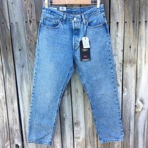 NWT Levi's 501 High Rise Straight Leg Crop Jean 28